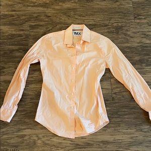 EXPRESS button down (peach color)